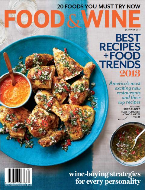 Food & Wine Magazine, January 2013